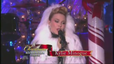kylie minogue let it snow rockefeller new york
