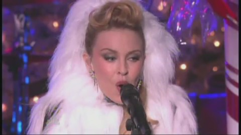 kylie minogue let it snow rockefeller new york