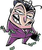 listillo espabilado dinero ladron tiburon