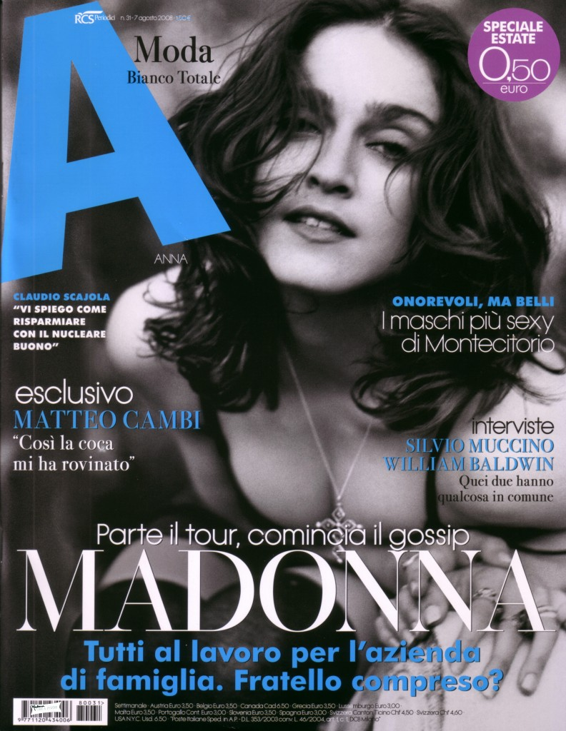 madonna a revista agosto 2008