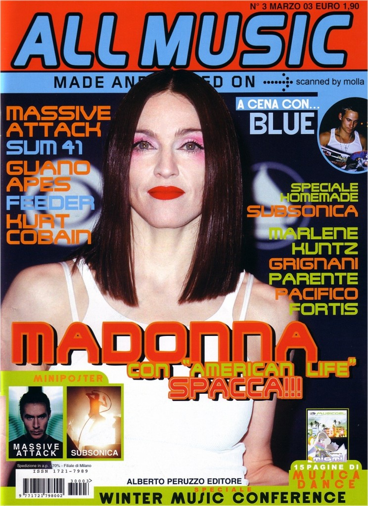 madonna all music marzo 2003