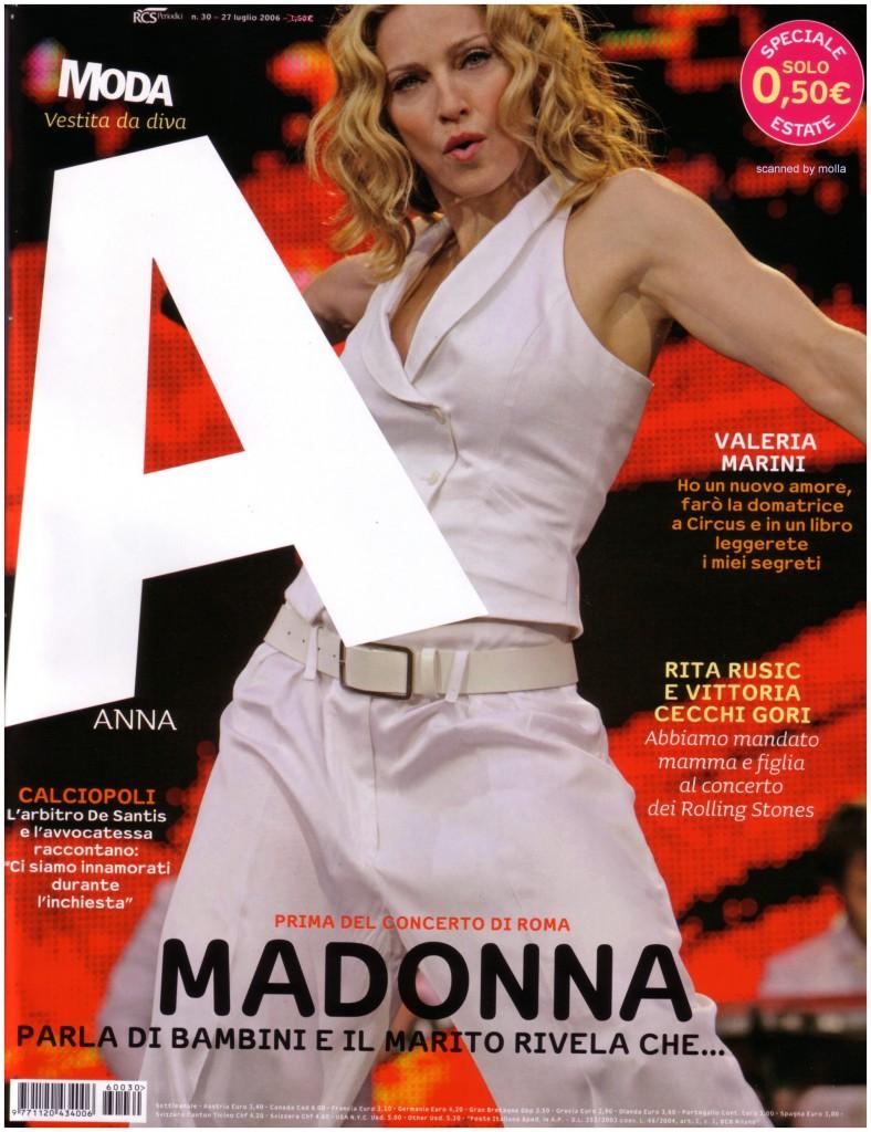 madonna anna cover julio 2006
