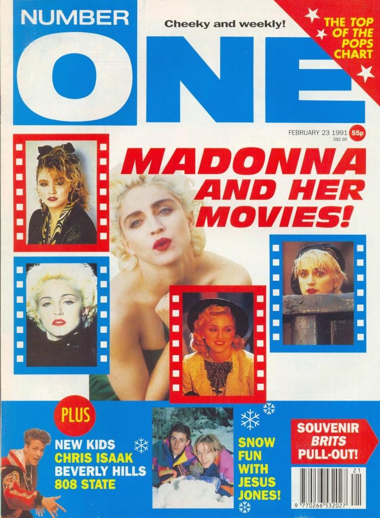 madonna number one febrero 1991