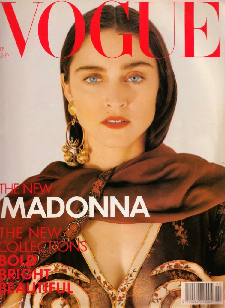 madonna vogue uk couverture 1989