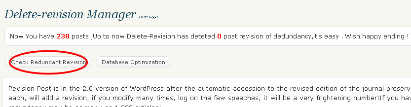 plugin delete revision manager wordpress