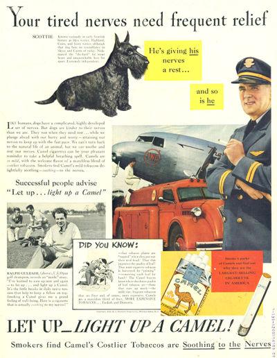 publicidad tabaco antigua camel nervios