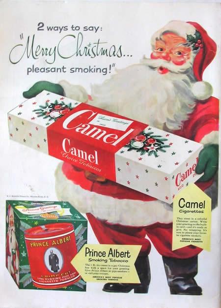 publicidad tabaco antigua camel santa claus
