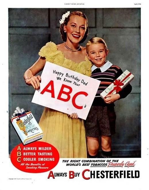 publicidad tabaco antigua chesterfield abc