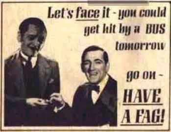 publicidad tabaco antigua cigarrillo autobus