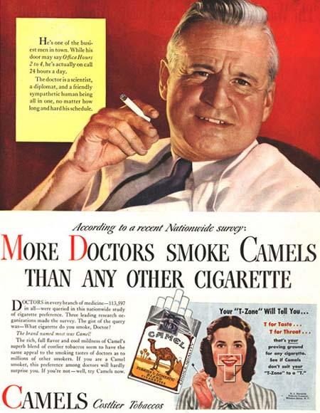 publicidad tabaco antigua doctores preferieren camel