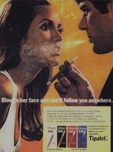 publicidad tabaco antigua fumale en la cara