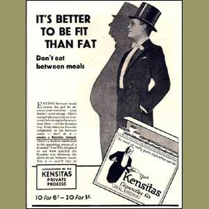 publicidad tabaco antigua kensitas delgado