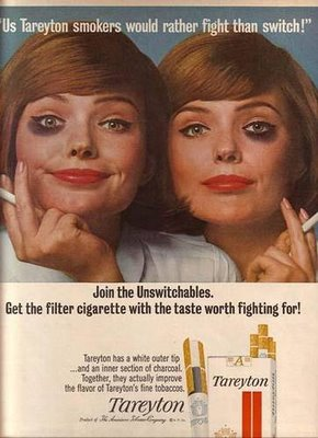 publicidad tabaco antigua luchar tareyton