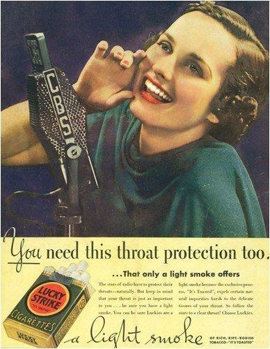 publicidad tabaco antigua lucky strike voz