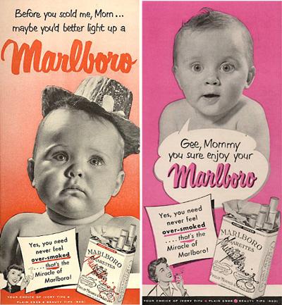 publicidad tabaco antigua marlboro bebe baby