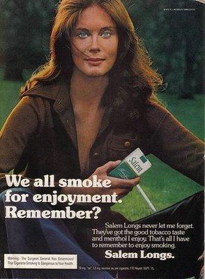 publicidad tabaco antigua salem disfrute