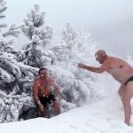 rusia siberia rio yenisei nieve bano banar 06