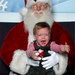 Los Santa Claus que asustan a los niños