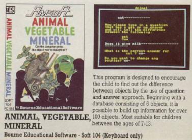 animal vegetal mineral amstrad