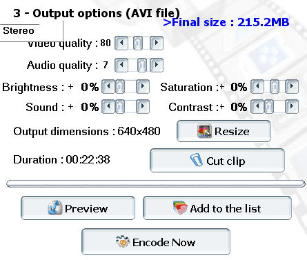 convertir ogm a avi Pocket DivX Encoder output options