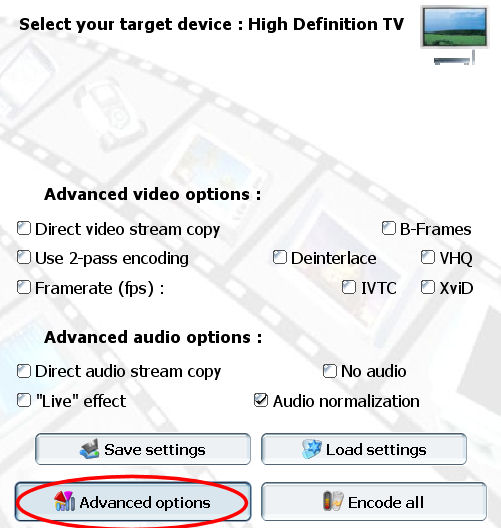 convertir ogm mkv avi Pocket DivX Encoder advanced options