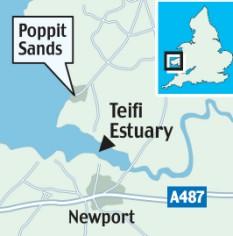 reino unido Poppit Sands river Teifi Dyfed Cardigan