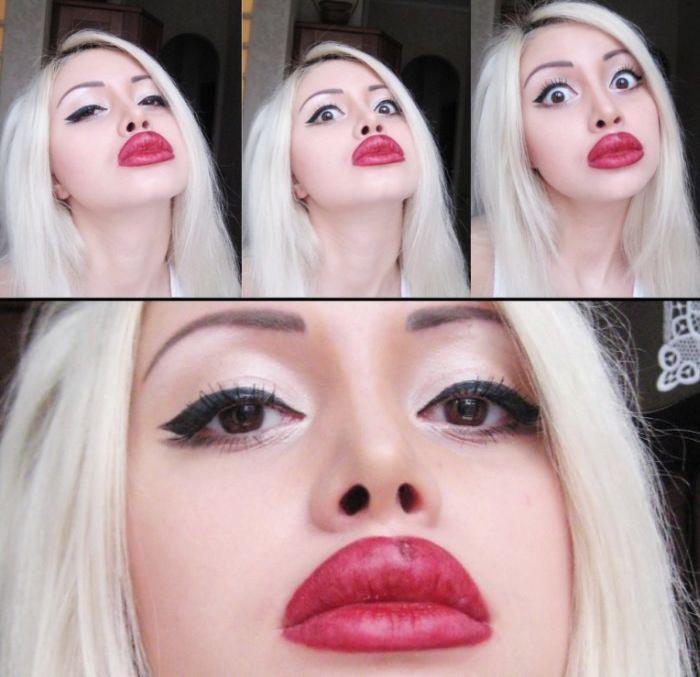 belleza evolucion chica tatuaje labios