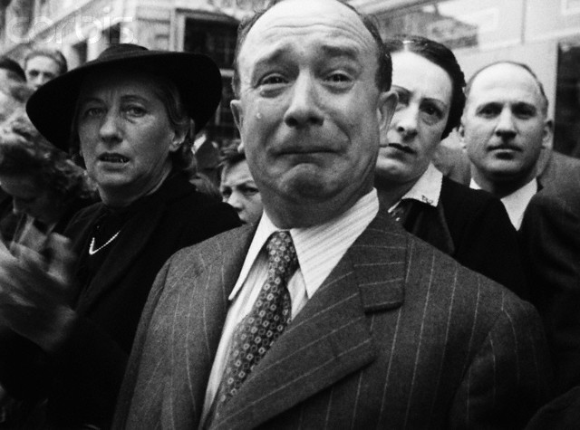 Frenchman Crying During Nazi Occupation of France
