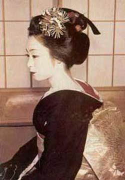 geisha maquillaje pintalabios labios