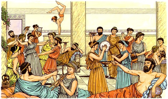 grecia antigua griegos fiesta celebracion