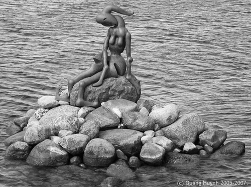 little mermaid-denmark-copenhaguen-impresionist