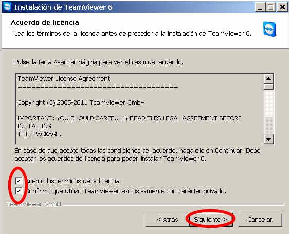 teamviewer escritorio remoto programa terminos