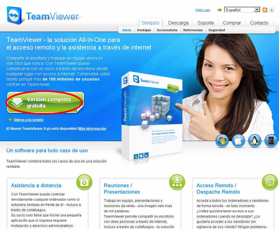 teamviewer escritorio remoto programa