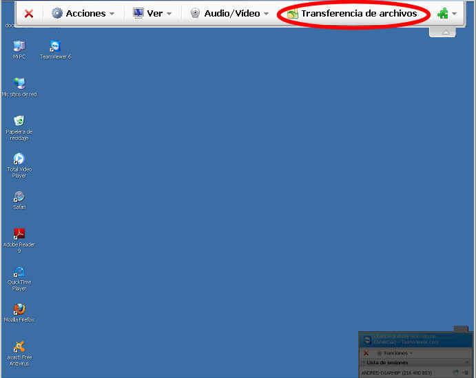teamviewer escritorio remoto transferencia archivos