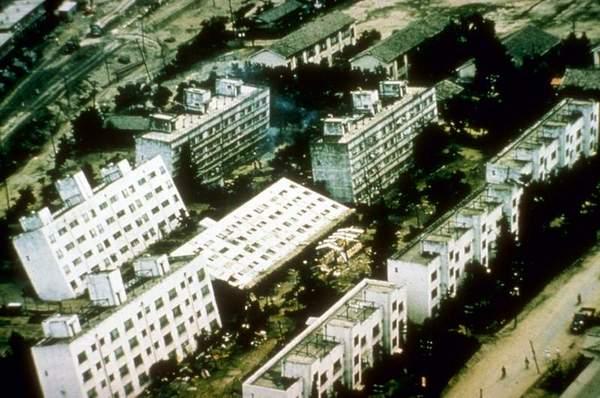 edificios terremoto niigata japon 1964 06 16