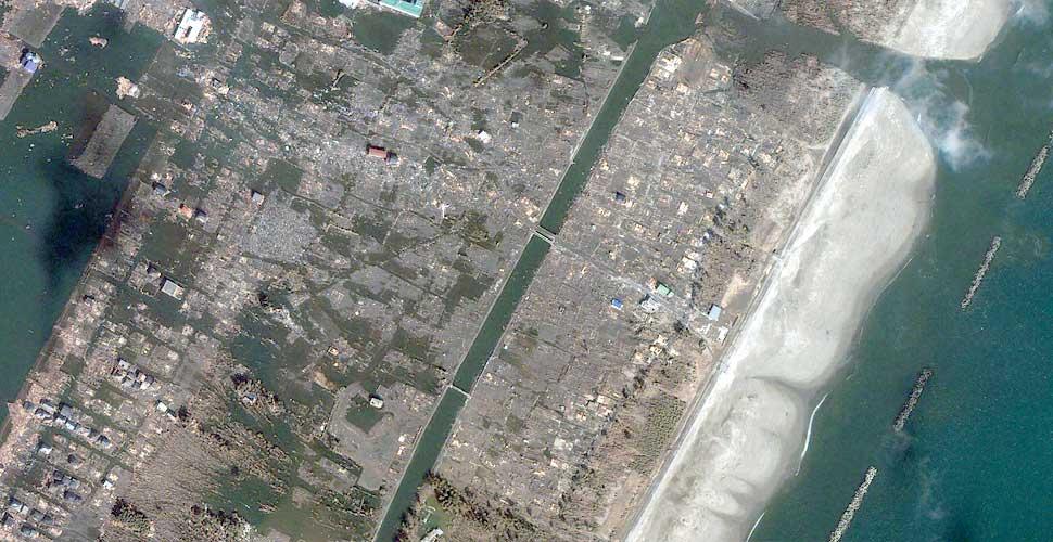 foto geoeye terremoto tsunami sendai satelite despues