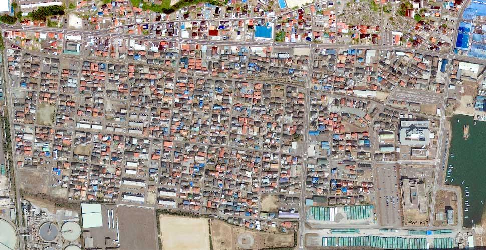 foto terremoto tsunami norte sendai ishinomaki satelite antes