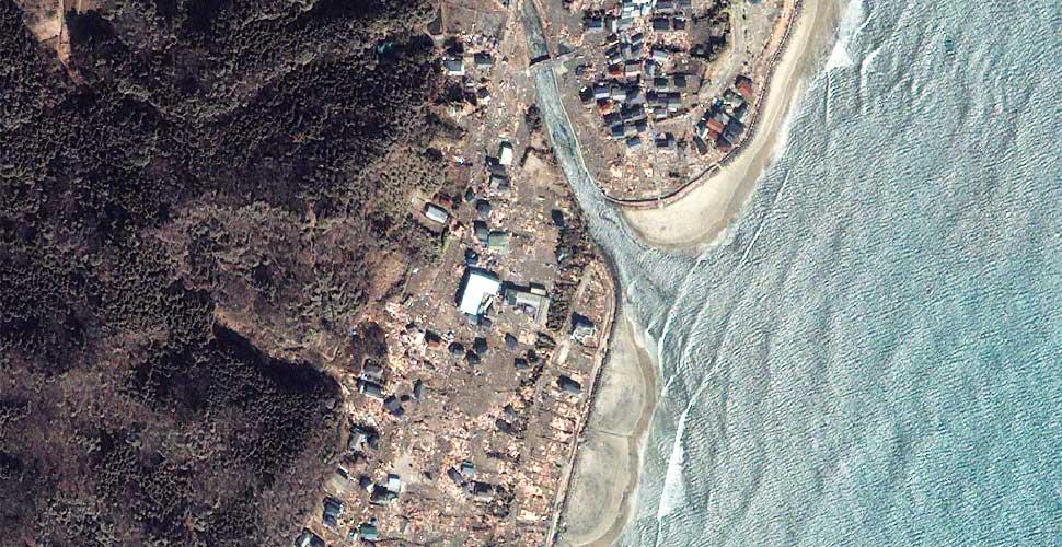fotografia geoeye terremoto tsunami iwaki japon satelite despues