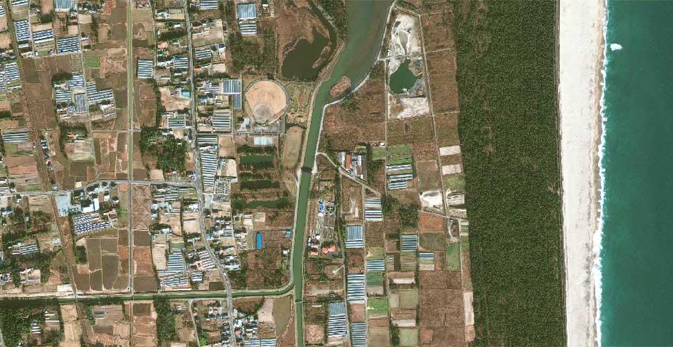 fotografia geoeye terremoto tsunami sendai satelite antes