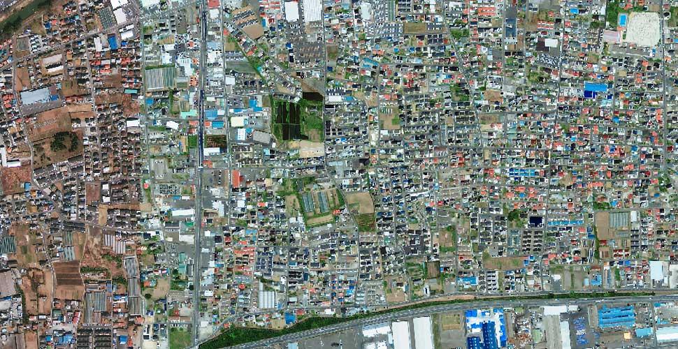 fotografia terremoto tsunami norte sendai satelite antes