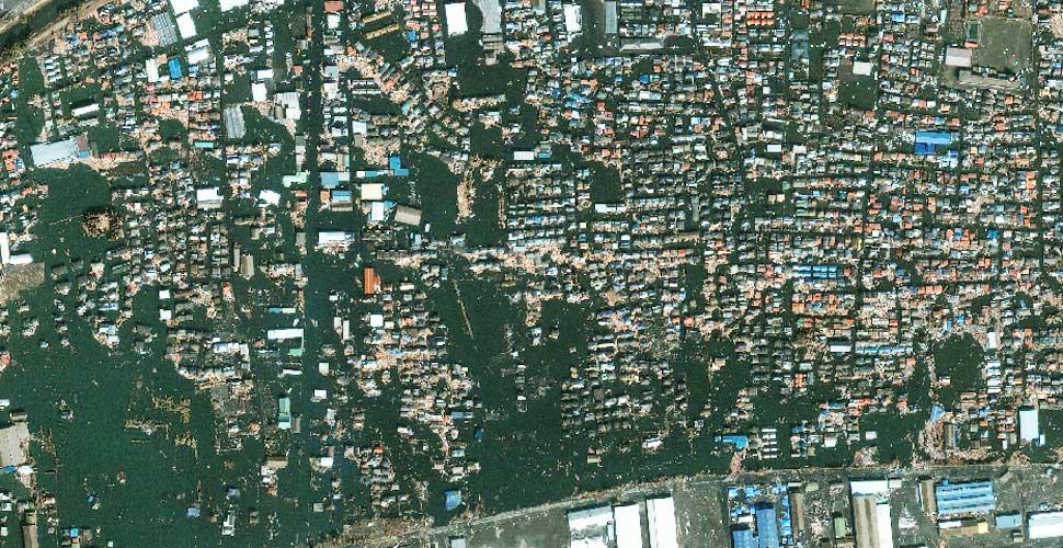 fotografia terremoto tsunami norte sendai satelite despues