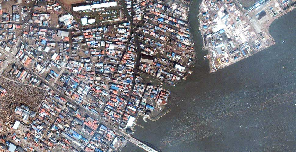 fotografia terremoto tsunami norte sendai vista satelite despues