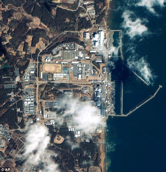 fukushima central nuclear vista satelite japon 2011 accidente