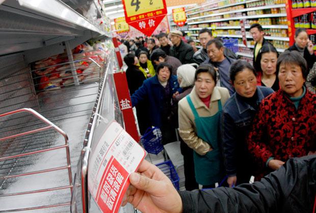 gente supermercado china comprando sal yodo radiacion nuclear