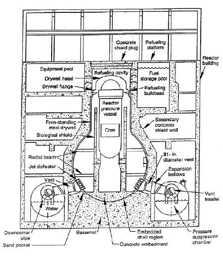 grafico reactor de agua en ebullicion BWR energia nuclear