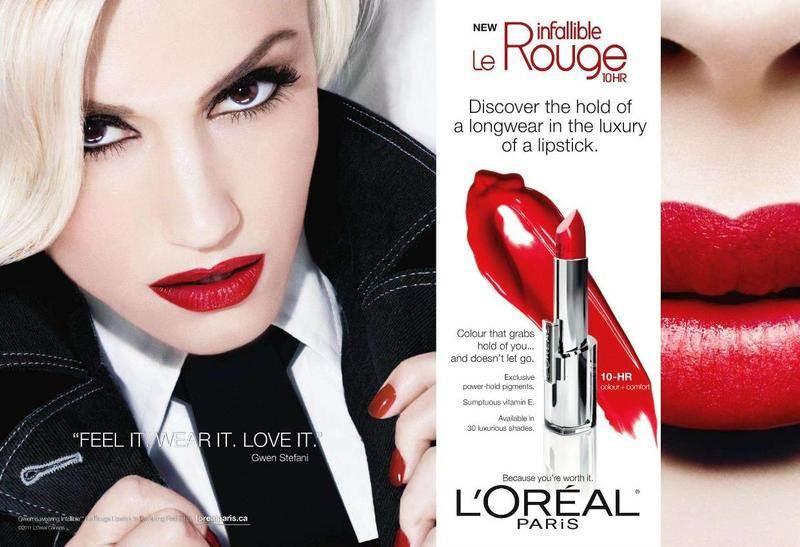gwen stefani loreal Ad Campaign