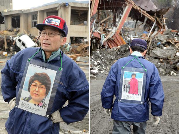 hombre busca mujer desaparecida tsunami terremoto 2011