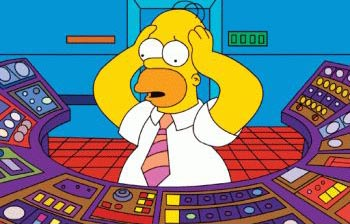homer central nuclear reactor accidente calor