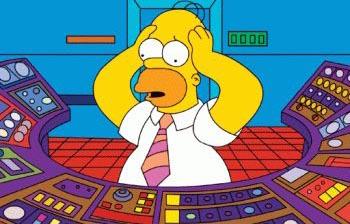 homer central nuclear reactor accidente calor