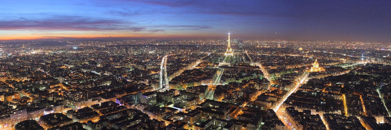 imagen foto panoramica Paris noche
